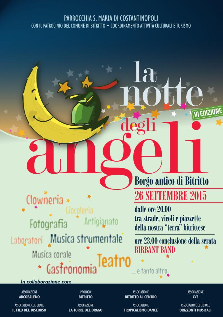 """Locandina """"La notte degli angeli"""""""